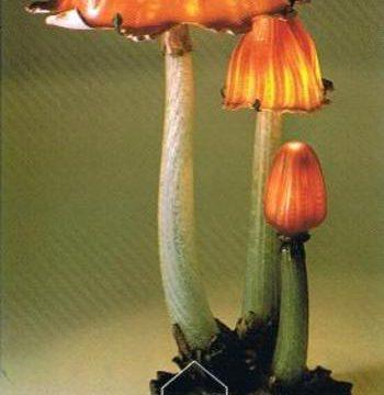 北澤美術館のひとよ茸ランプ